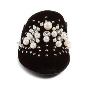 56ce153009d HP🎉{steve madden} pearls mule velvet valentine